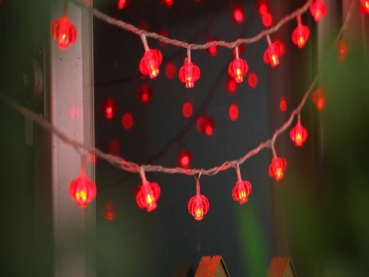 Chinese Lantern LED Christmas Tree Lights
