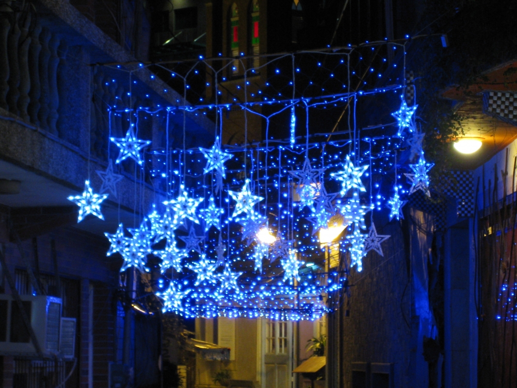 LED star & net lisghts decoration