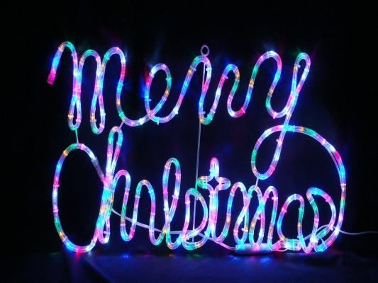 LED Merry Christmas - 6 彩光