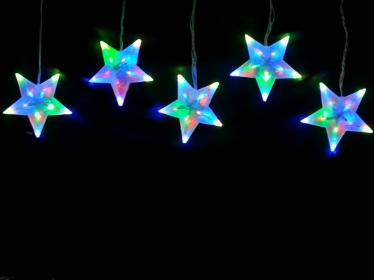 LED Hanging Star Set
