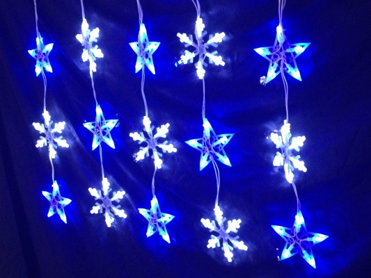 LED Star / Snow Hanging Set