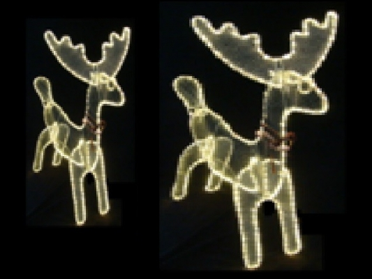 LED 3D Deer Family